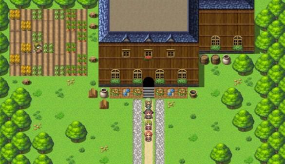 Votre jeu aura probablement ce style graphique si vous utilisez les éléments graphiques proposés par RPG Maker  MV.