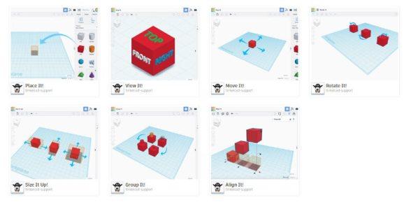 Ecran d'entrainement à la modelisation en 3D (didactiel)