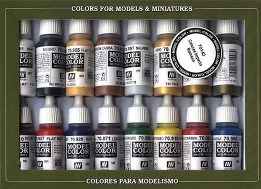 Set de peinture acrylique Vallejo.