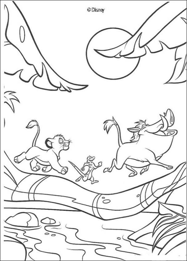 lion king coloring page # 18