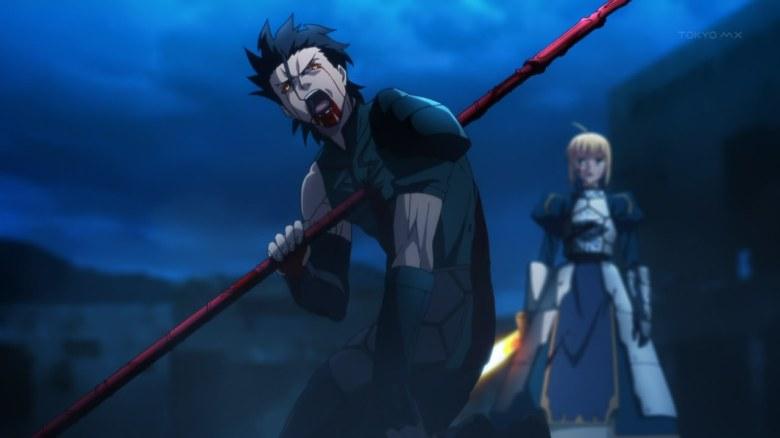 "Image result for Lancer ""Fate/Zero death"