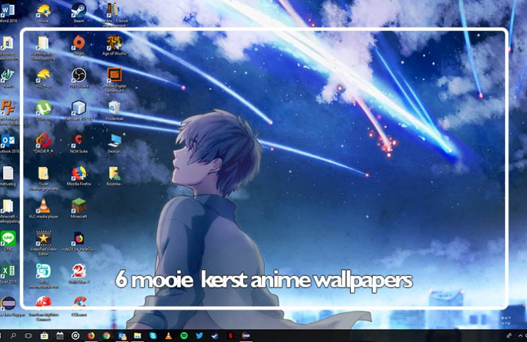 12 Days of Anime 2017 kerst anime wallpapers