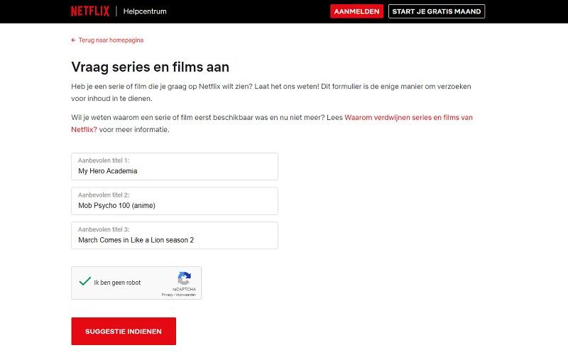 Vraag anime aan op Netflix: mijn 3 aanbevolen titels