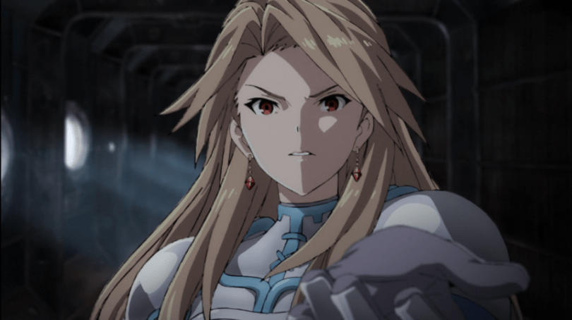 Katalina reaches out her hand, palm up.