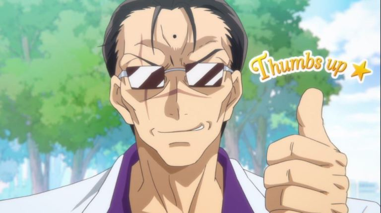 Kokoro the Yakuza giving a thumbs up and smiling