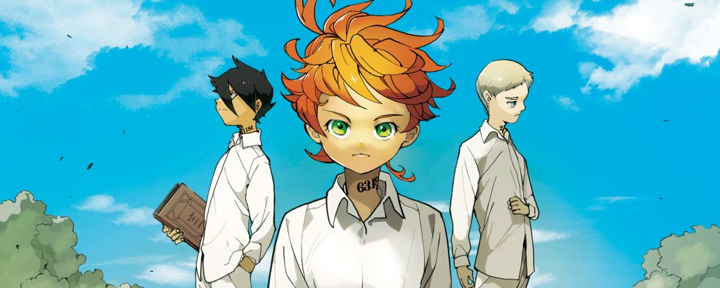 The three leads of The Promised Neverland