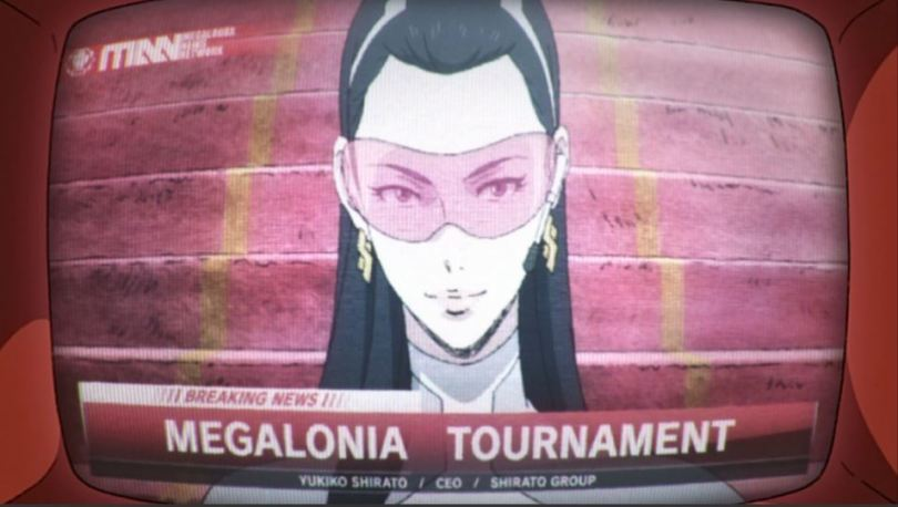 A TV broadcast about the Megalonia Tournament