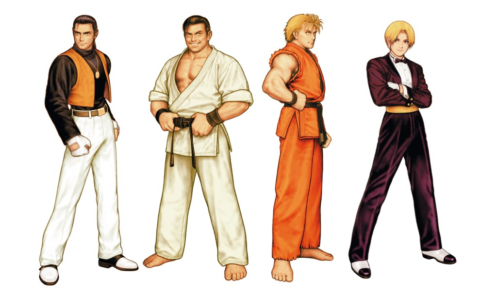 King and a lineup of three other AOF fighters