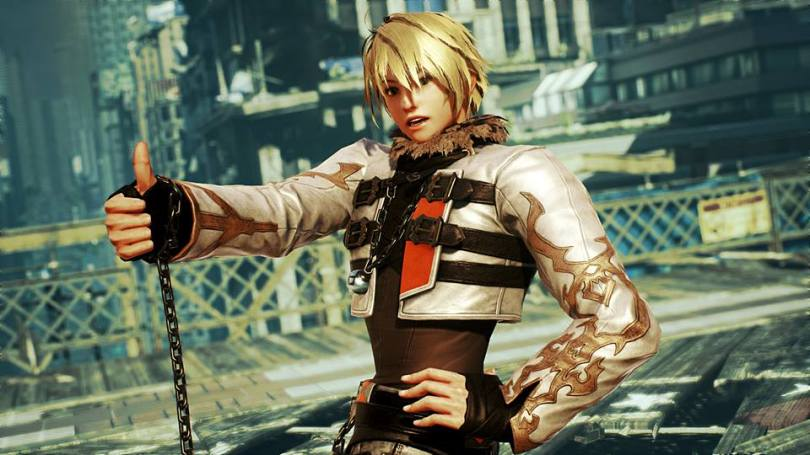 Leo posing with a thumbs up in Tekken 7