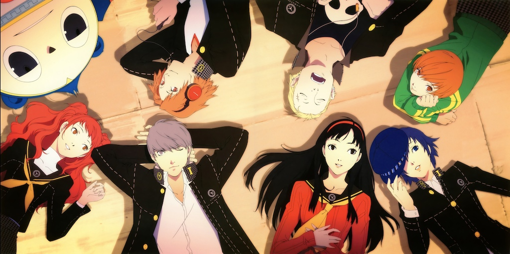 A group shot of the Persona 4 cast