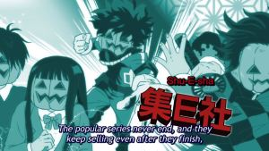 parodies of main characters from popular series with their heads replaced by jack-o-lanterns. subtitle: the popular series never end, and they keep selling after they finish