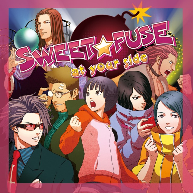 The cover of Sweet Fuse, featuring the protagonist and her potential love interests