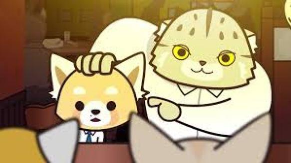 Manumaru putting his hand on Resasuke's head and pointing to him
