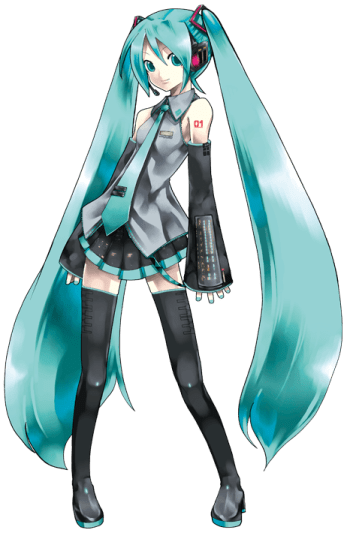 Full body shot of Hatsune MIku
