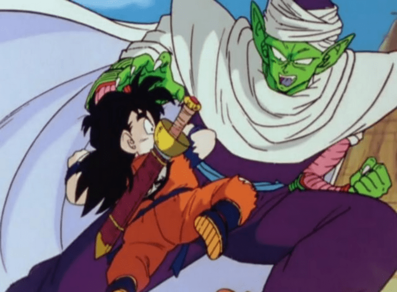 Piccolo sparring with young Gohan