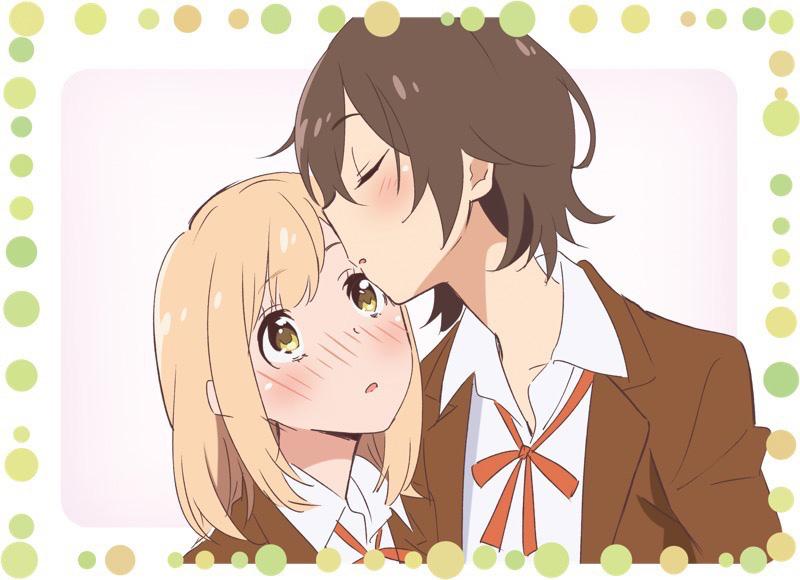 Kase kisses Yamada's head as Yamada blushes