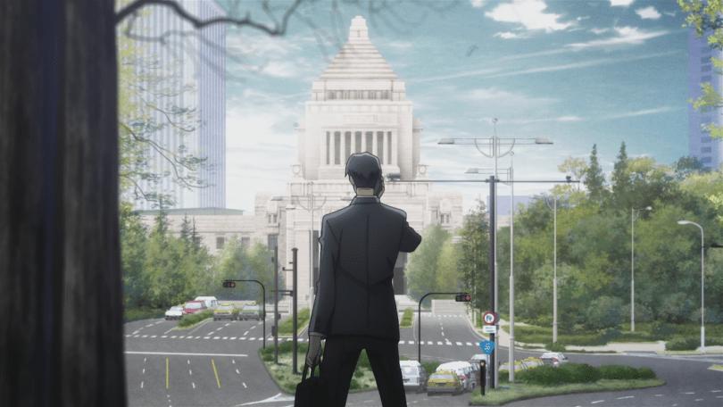 Seizaki looking up at the city's capital