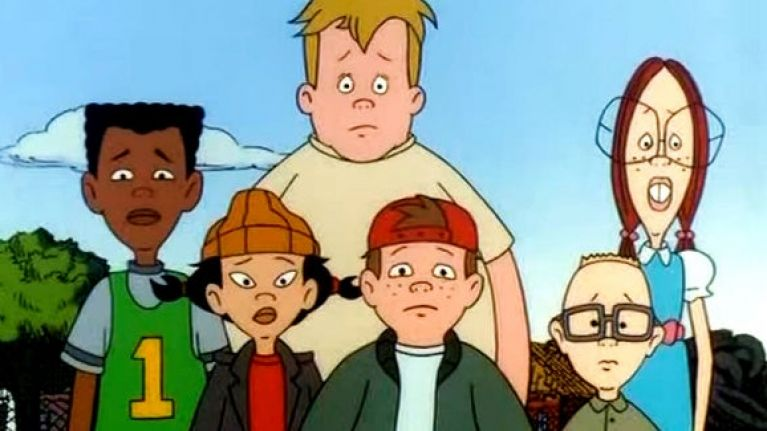 The cast of the cartoon Recess