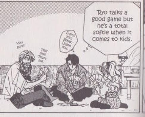 Dee thinking Ryo is a softy around kids