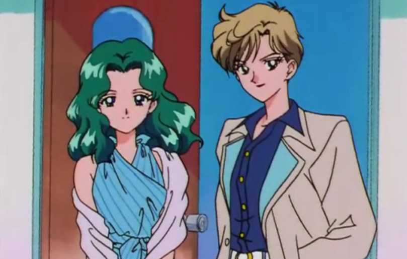 Haruka and Michiru in day clothes