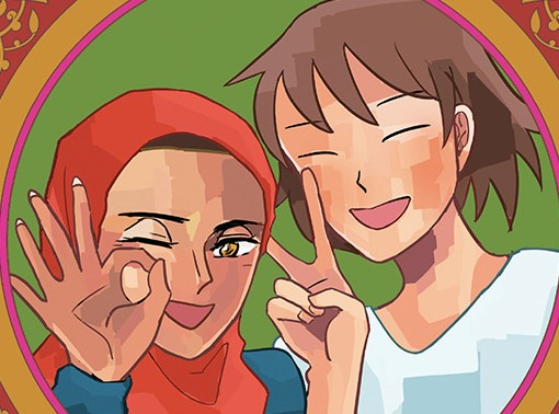 satoko and nada, color image