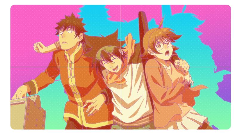 Mori throwing his arms around Mira and Daewi