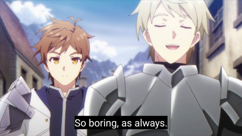 """Kasel wants beside a fellow knight who smiles and says """"So boring, as always."""""""