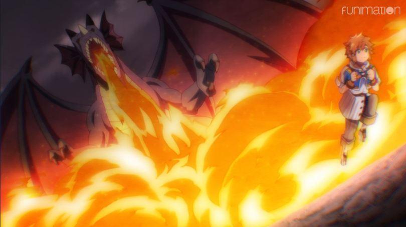 Lloyd running from a dragon