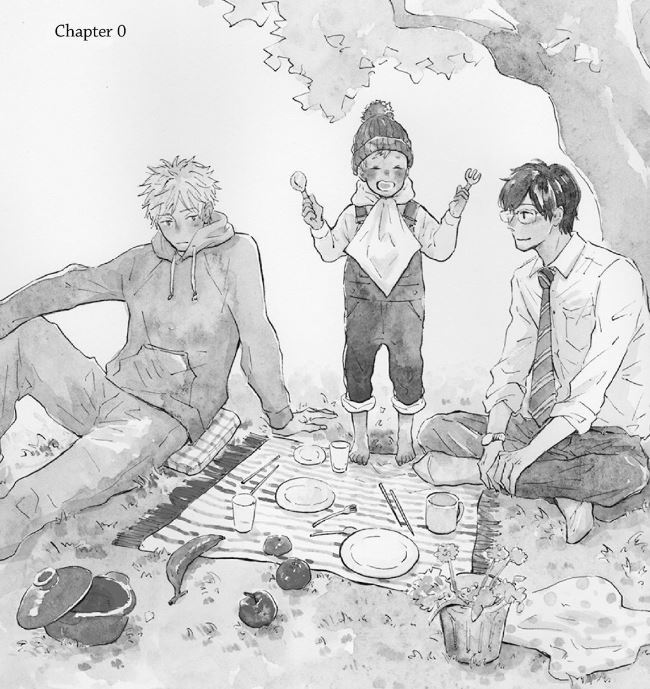 The characters from Dining Room Table having a picnic.