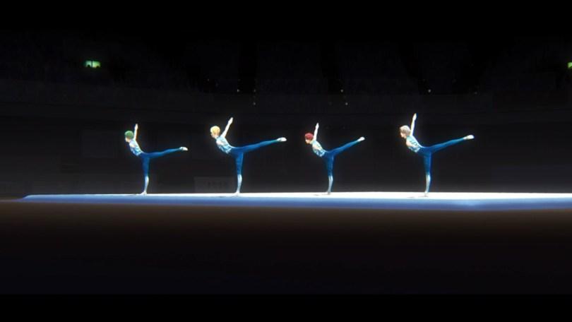 The members of the Soshukan High School men's rhytmic gymnastic club put on a show.