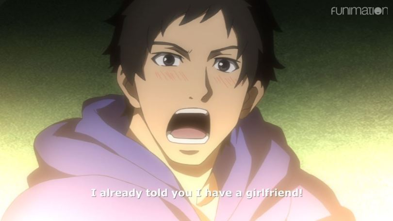 Goto yelling and blushing. subtitle: I already told you I have a girlfriend!