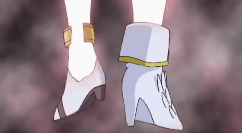 close-up of Angewomon's high heels