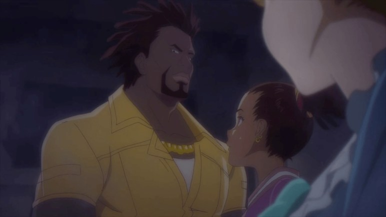 Carole & Tuesday meeting Skip for the first time.