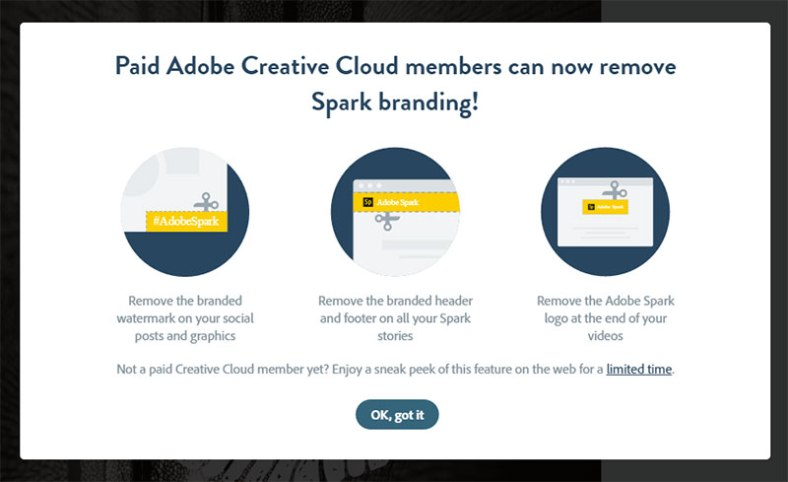 paid account messaging with spark