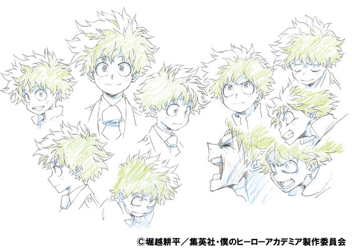 My Hero Academia Color Character Designs Released