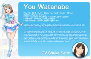 Love Live Sunshine English - You Watanabe - 20160111