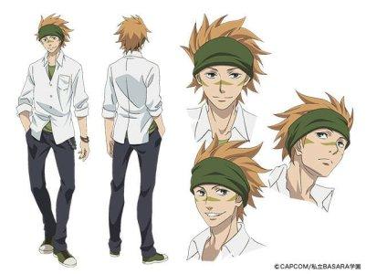 Gakuen Basara Character Visual - Sasuke Sarutobi