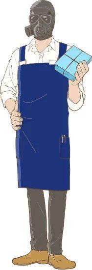 Gaikotsu Shotenin Honda-san Character Visual - Gas Mask