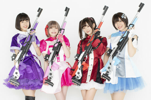 Rifle Is Beautiful Anime Cast Photo