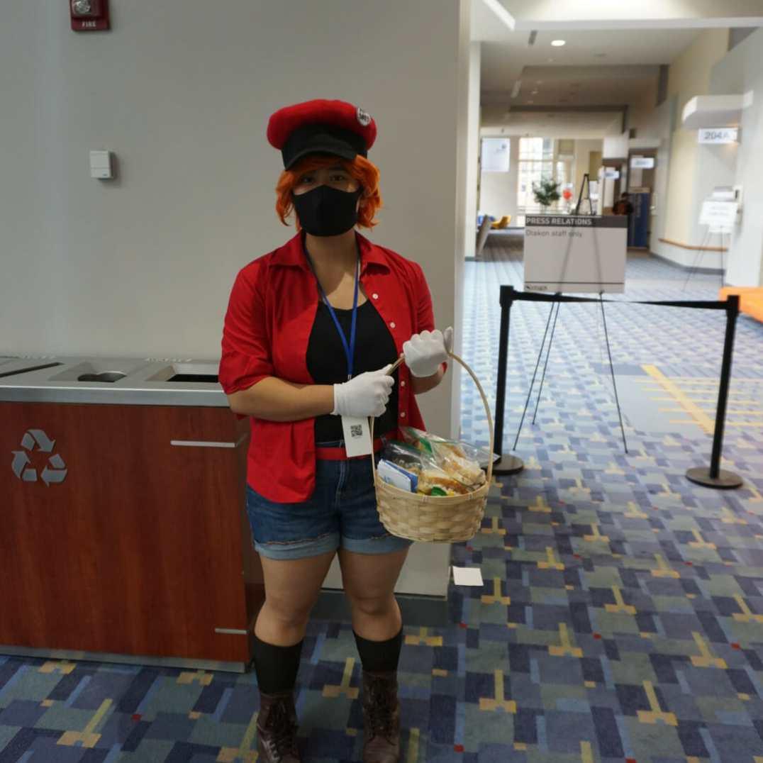 Photo of a Cells At Work Red Blood Cell cosplayer at Otakon 2021