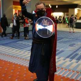 Photo of a cosplayer dressed as Dr. Strange at Otakon 2021