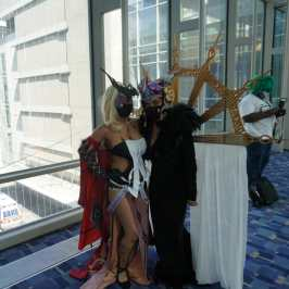 Photo of cosplayers dressed as Final Fantasy characters at Otakon 2021