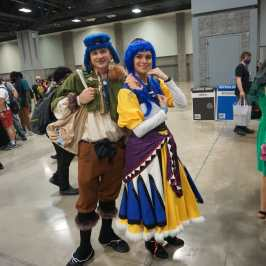 Photo of a cosplayer at Otakon 2021 dressed as Alex and Luna from Lunar: the Silver Star