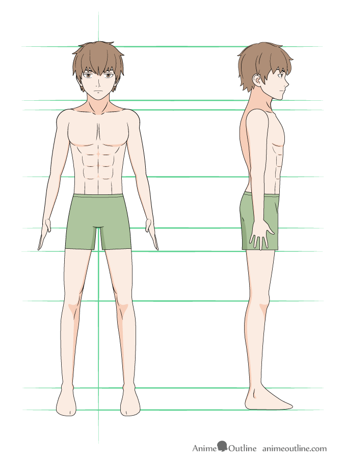 Anime Female Reference Anatomy Drawing