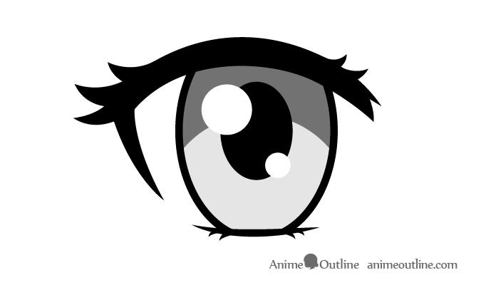 Female anime eye drawing
