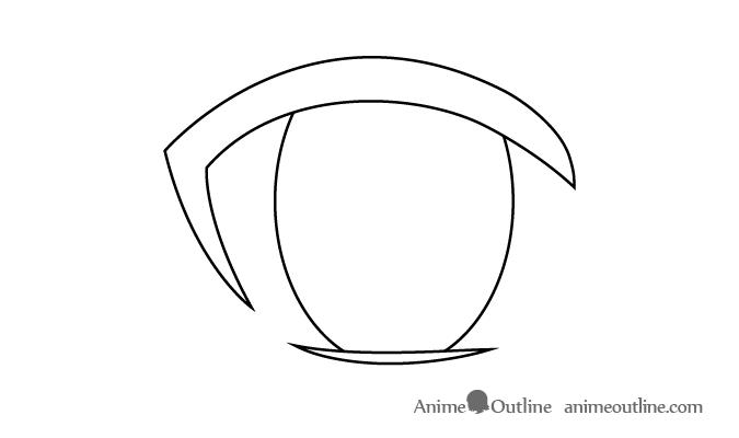 Female anime eye iris