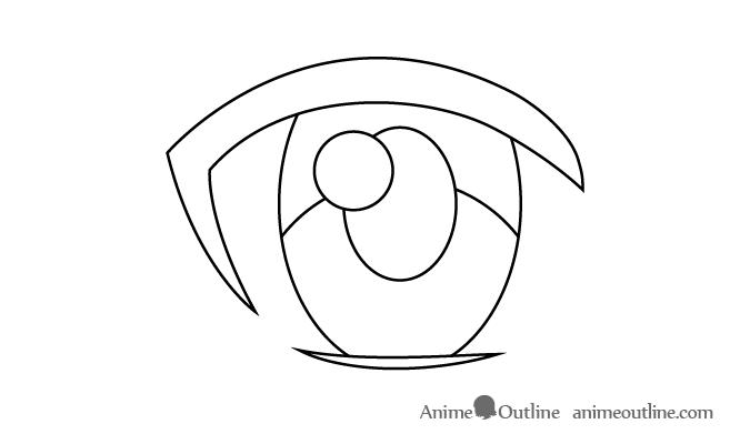 Female anime eye primary light reflection
