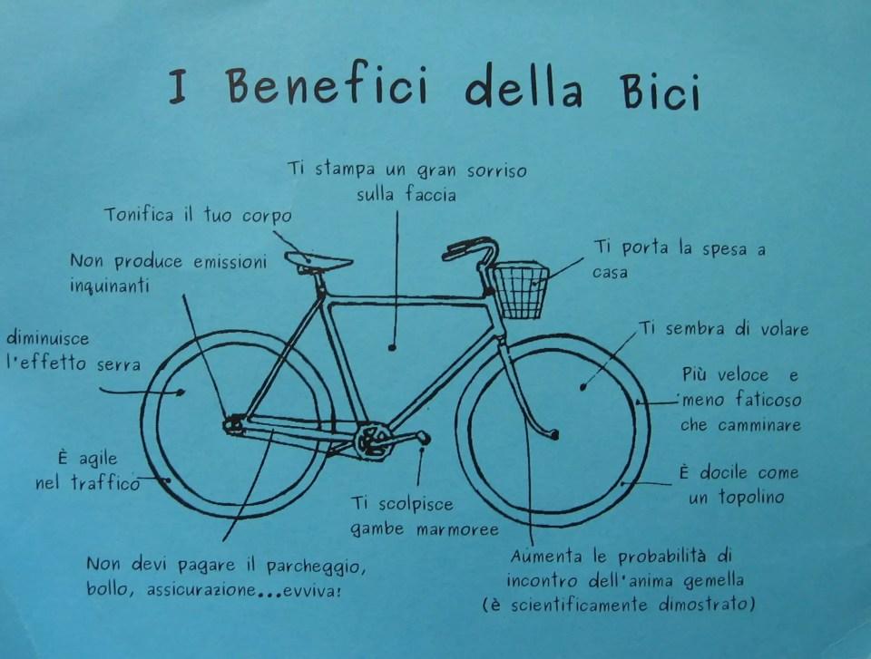 benefici bicicletta