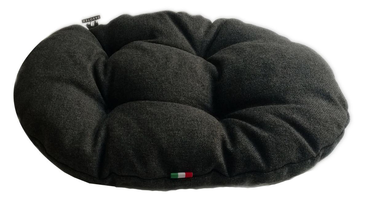 coussin ovale riverside couleur uni pour chien et chat 60 x 40 cm