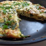 Fritatta with Asparagus, Pancetta and Goat Cheese